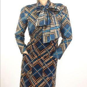 VINTAGE 1970'S MALCOM STARR SILK VELVET DRESS